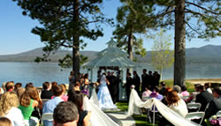 Lake front wedding package ceremony.