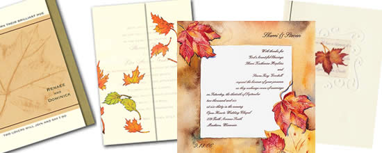 Fall Wedding Invitations.