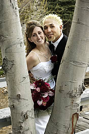 destination mountain wedding venue with trees.